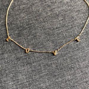 Golden LOVE Necklace